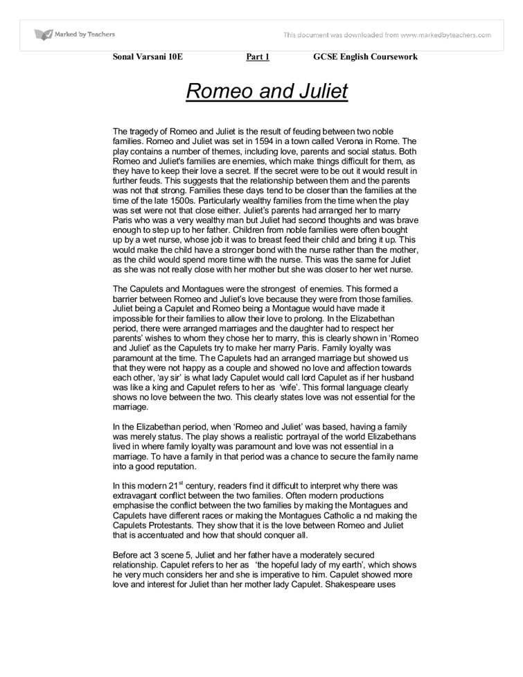 portrayal of love in romeo and juliet