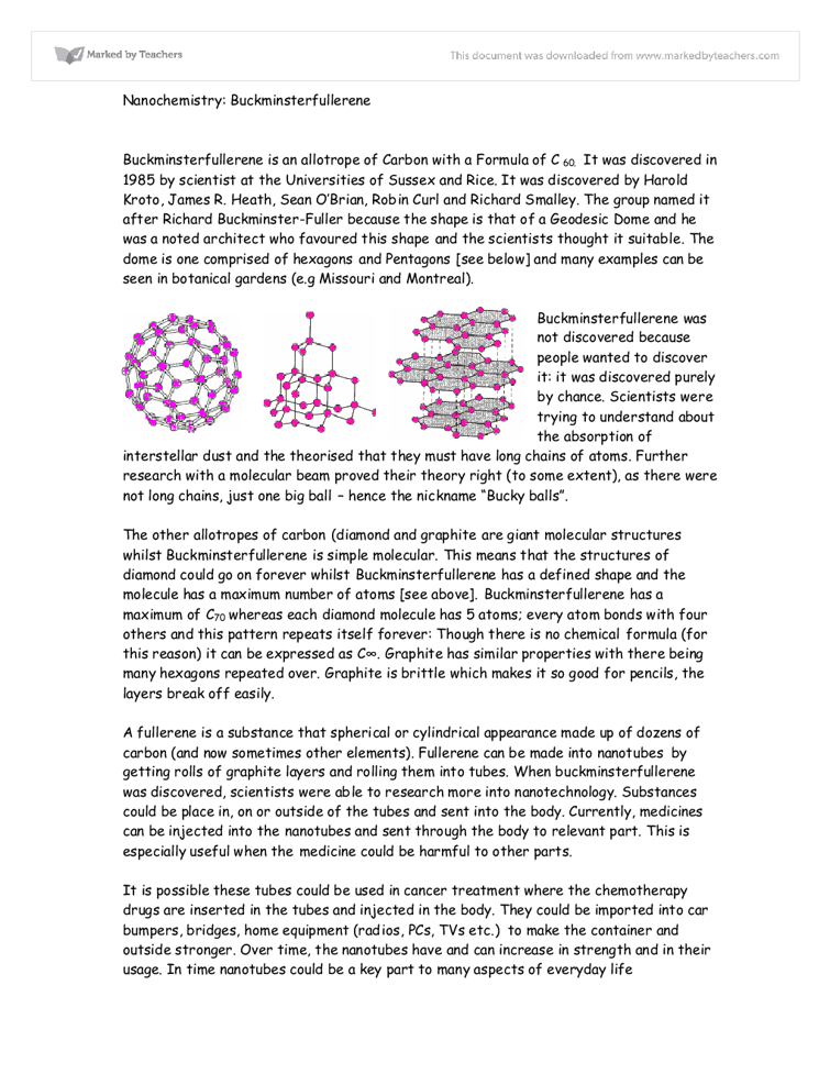 essay on nanochemistry