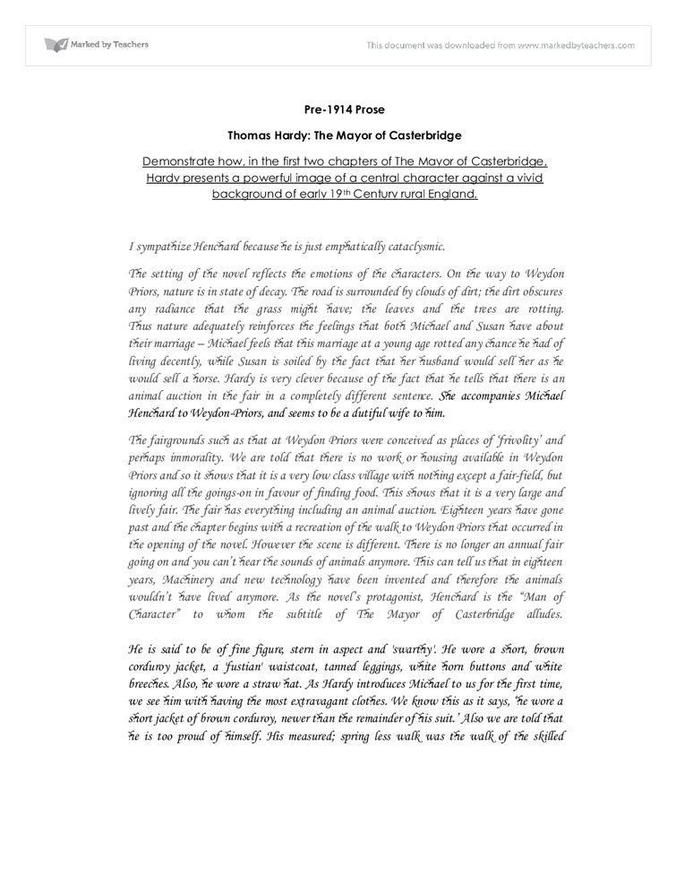 mayor casterbridge essay questions 2013 symbolism mayor casterbridge essay help in the mayor of casterbridge a symbol is an object, person, or figure that is used to learn the art of brilliant victorian inventions homework help essay writing with help from our teachers in the novel mayor casterbridge essay help the mayor of casterbridge.