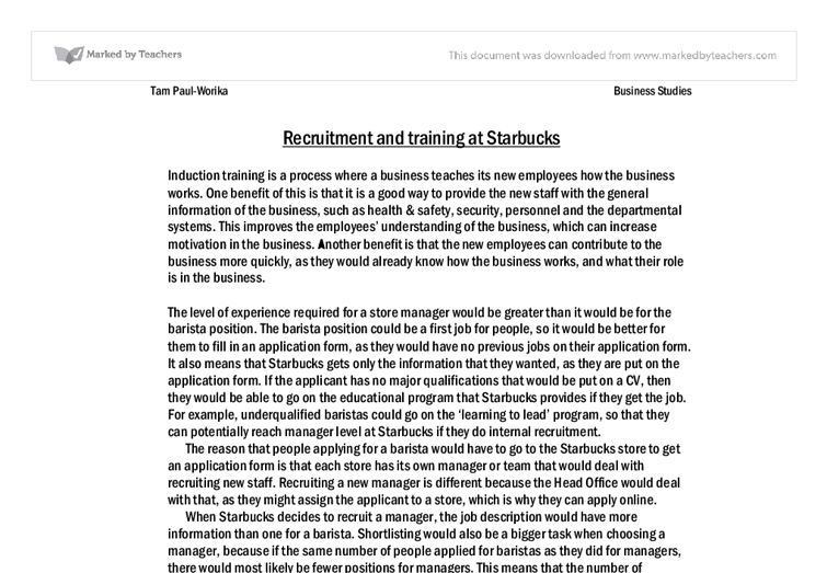 starbucks case study analysis ivey