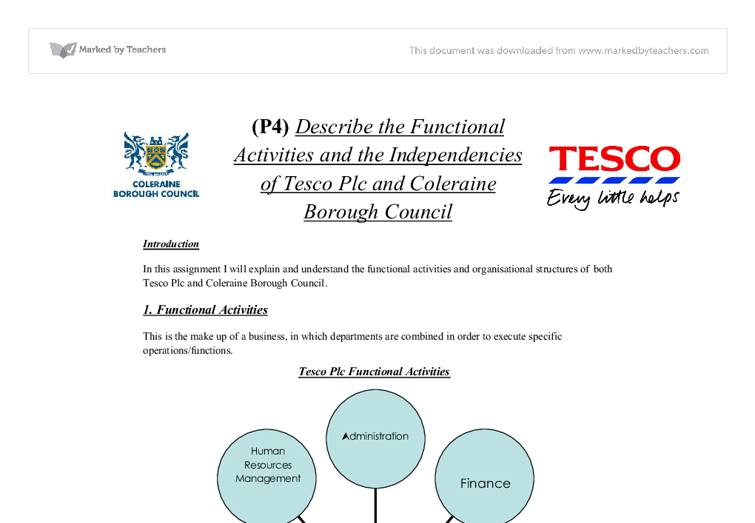 an analysis of the operational management within tesco plc The role of strategic human resource management within tesco plc is based on the investigation and analysis of the critical roles of shrm within an.