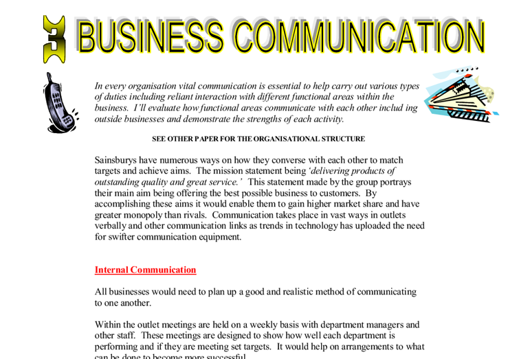 electronic communications in business essay
