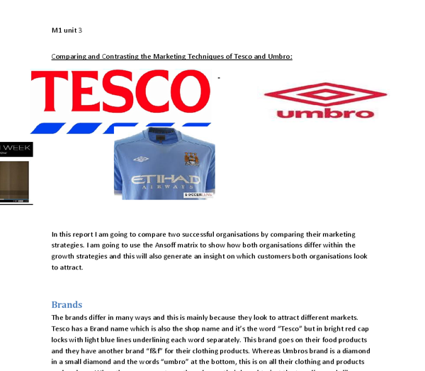 marketing techniques used by tesco
