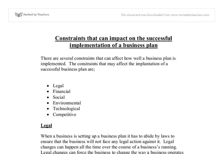 legal constraints on a business Doing business in indonesia: legal and bureaucratic constraints ross h mcleod in 2004 the world bank group identified the private sector in developing countries.