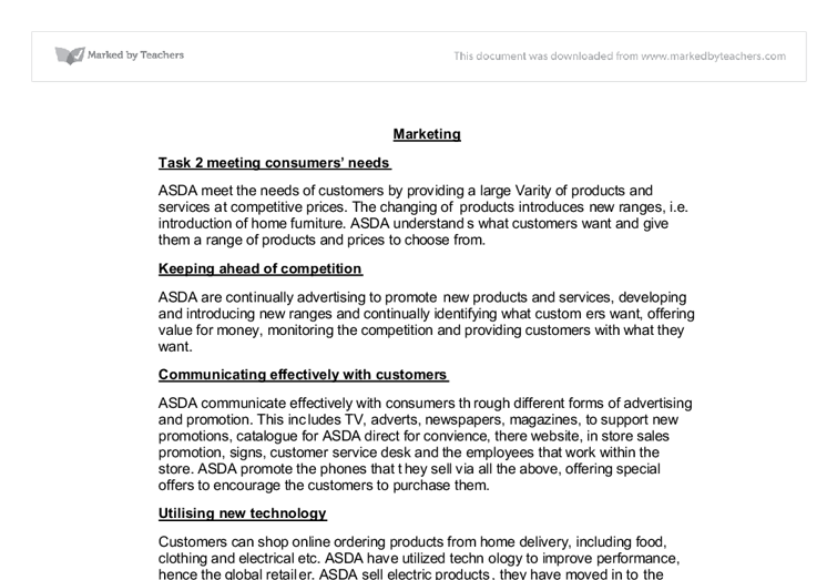 marketing case studies asda and john lewis a level business document image preview