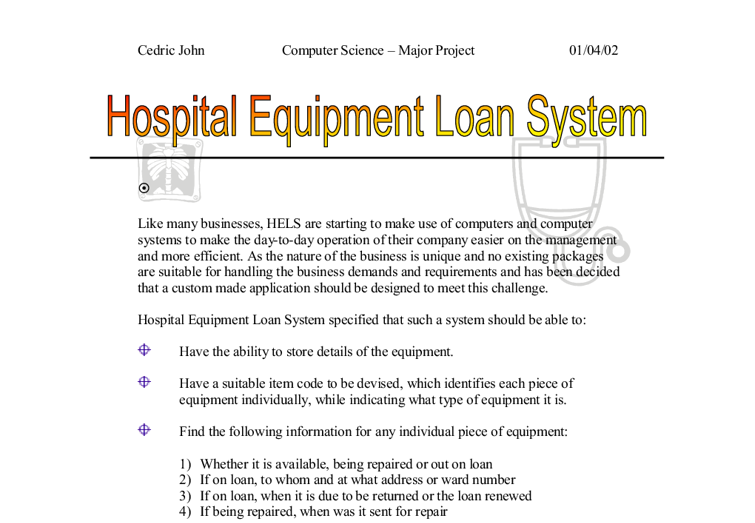 lending system essay Title: computerized loan origination system: an industry case study of the electronic markets created date: 3/28/2002 3:57:34 pm.
