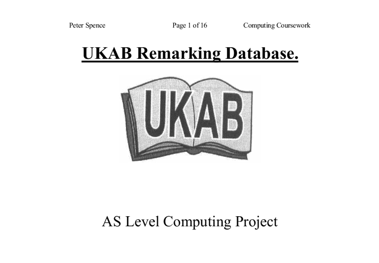 ukab remarking database essay Essays - largest database of quality sample essays and research papers on what  are defects of capitalism what are defects of capitalism there has been much.