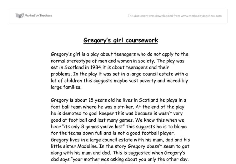 gregorys girl essay Shame dick gregory essayhanan hamdan he shares many incidents to support his message the girl that he wants the most does not even notice him poverty personified the story shame by dick gregory emphasizes how one is taught to be ashamed or embarrassed.