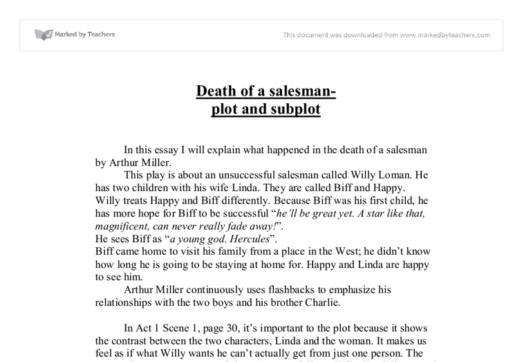drama analysis essay the death of a salesman essay Literary analysis essay death of a salesman literature death of a salesman essay essay 3: analyzing death of a salesman see the lesson on the essential moves of literary analysis in topic 3 for moresample of death of a salesman drama essay.