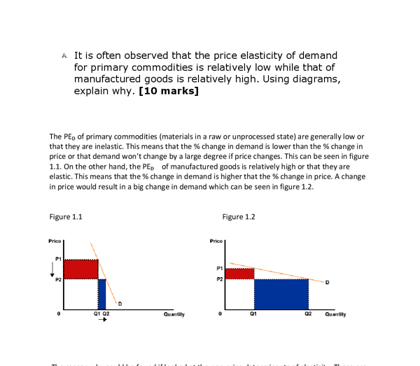change in quantity demanded and change in price economics essay Free economics essays home free  of demand refers to how a change in price or income affects the  if the percent change in quantity demanded is smaller than.