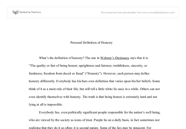 honesty pays in the end essay In to kill a mockingbird , author  full glossary for to kill a mockingbird essay  at the end of the story she realizes that she doesn't have much more to .