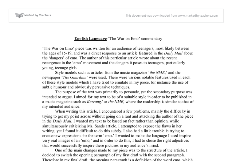 Language Analysis Essay