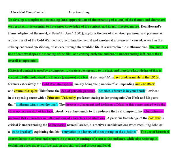 english essay on context in relation to the film a beautiful  document image preview