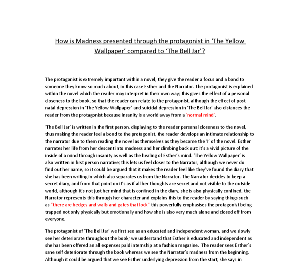 Essay Writings In English  Science And Society Essay also Good High School Essays How Is Madness Presented Through The Protagonist In The  Thesis Statement Example For Essays