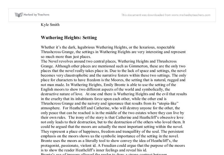 Wuthering heights context essay