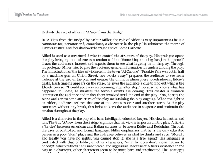 the roles of alfieri essay Anthony v alfieri, the ethics of violence: necessity, excess, and opposition   ence, especially how she mastered duties that required instruction he   narrative, violence, and the law: the essays of robert cover 255-76 (martha  minow et.