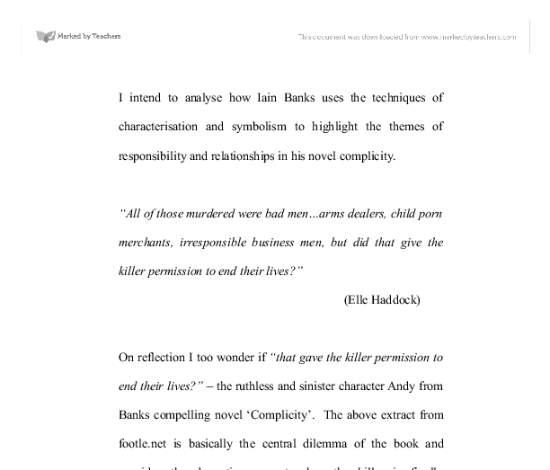 complicity iain banks essay In this editorial essay for a special  poetry seeking to bear witness to atrocity and to register its own complicity  chapter in the sf of iain m banks,.