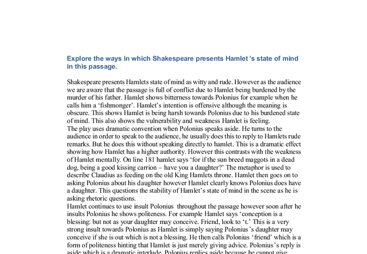 explore the ways that shakespeare presents Free essay: explore the ways in which shakespeare presents lady macbeth and browning presents the speakers in porphyria's lover, my last duchess and the.