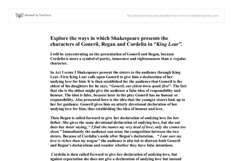 Shakespeare's King Lear Essay