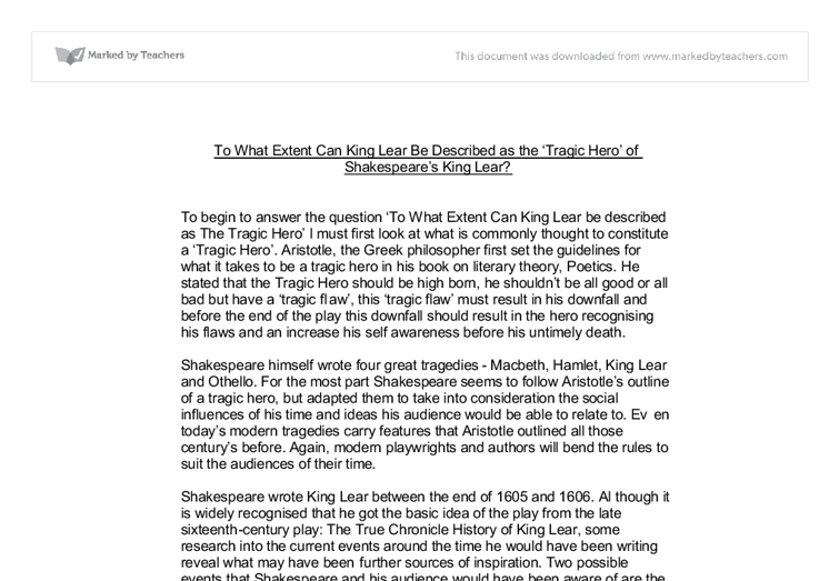 "an essay on king lear-shakespeare Animal imagery in king lear a common misconception during the elizabethan era is that humans are superior to animals fudge shows this by stating: ""where there is a fear of the collapse of difference, there is also an urgent need to reiterate human superiority"" (fudge 2."