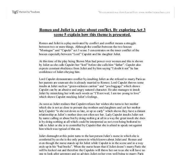 Essay/Term paper: Romeo and juliet journal