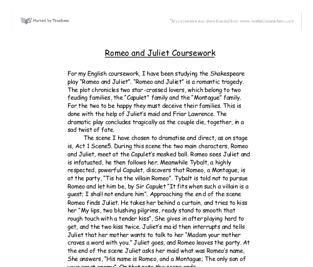 Romeo and juliet analysis essay