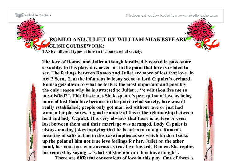 essay on romeo and juliet love theme