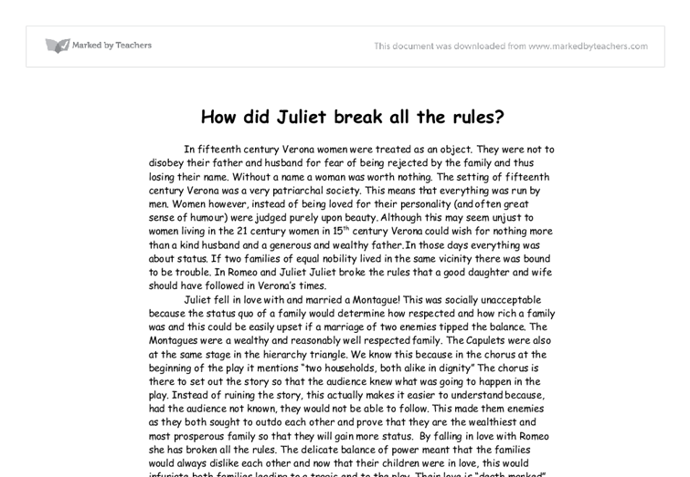 Romeo and Juliet: Did Fate End it All? Essay Sample