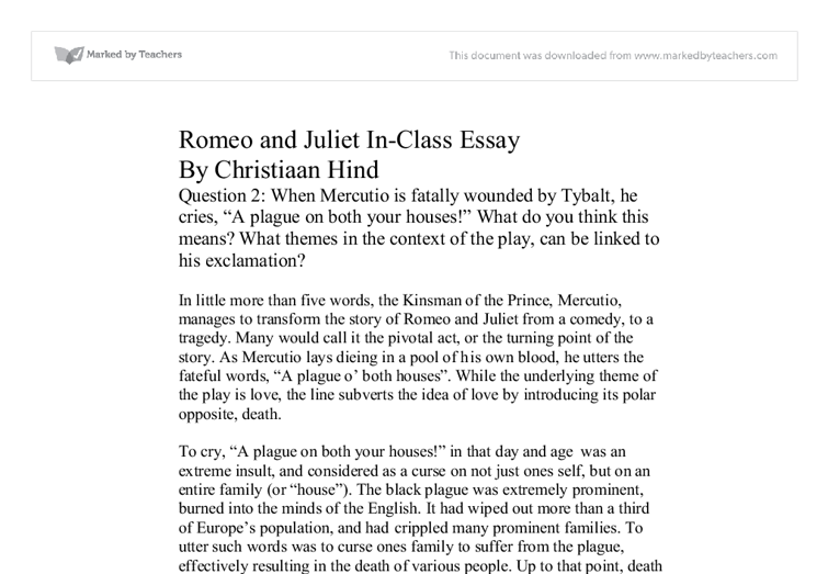 themes introduced my mercutio in romeo and juliet a level  document image preview