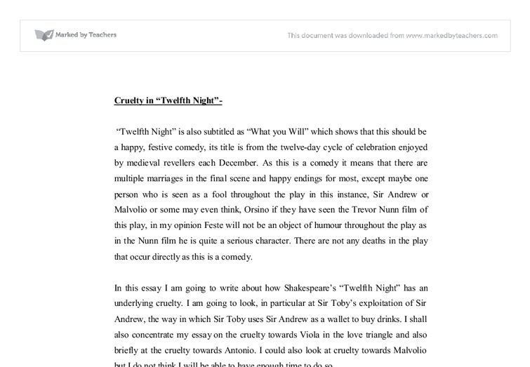 the trickery in 'twelfth night' is Essays - largest database of quality sample essays and research papers on disguise and deception twelfth night.