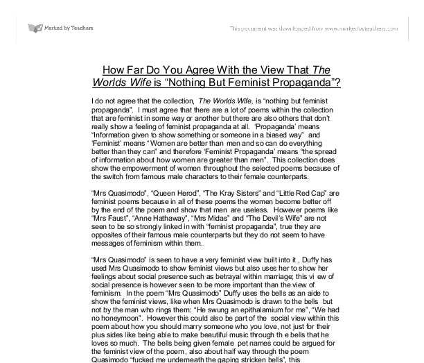 feminist essay i want a wife
