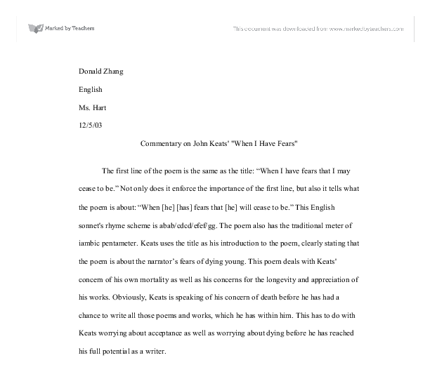 john keats writing style essay A detailed discussion of the writing styles running throughout ode on a grecian urn ode on a critical essay #1 critical essay john keats writing styles in ode.