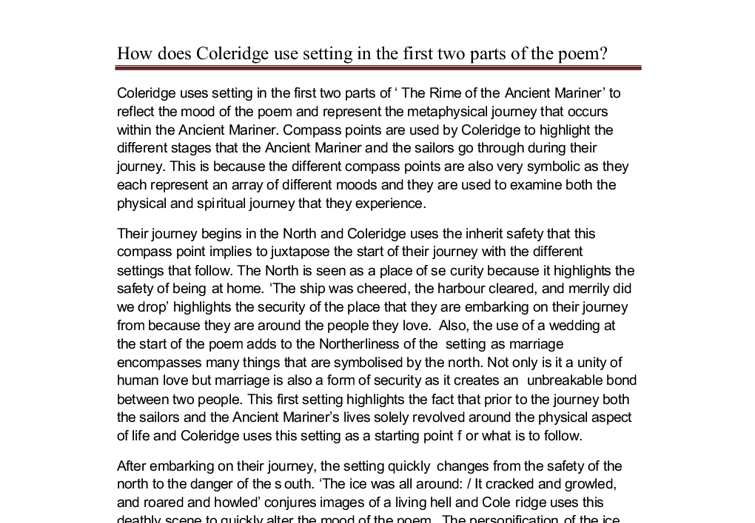 rime of the ancient mariner essay rime of the ancient mariner college essays 1079