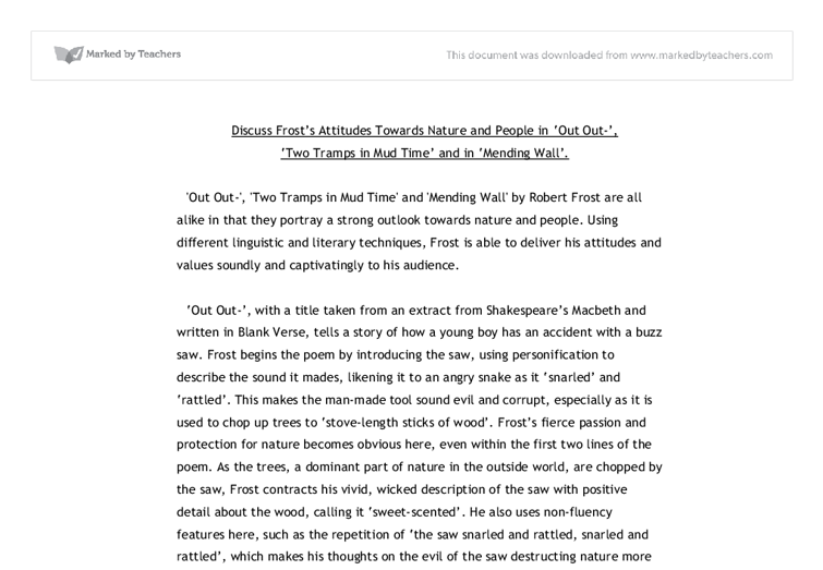 Robert frost mending wall analysis essays