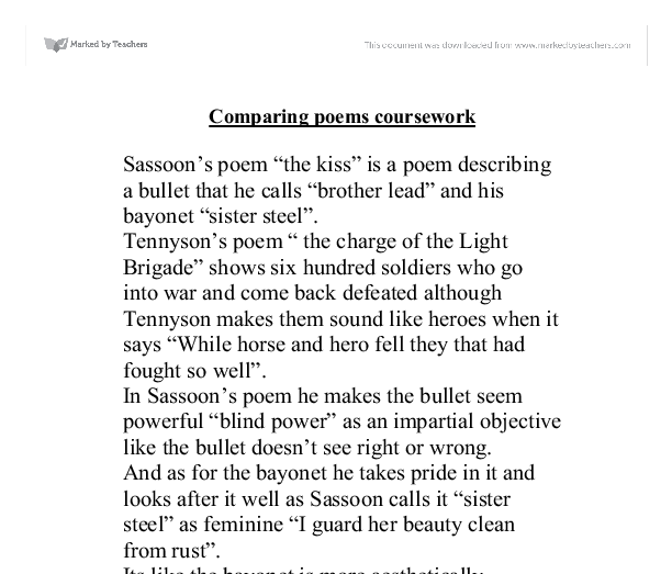 charge of the light brigade poem essay