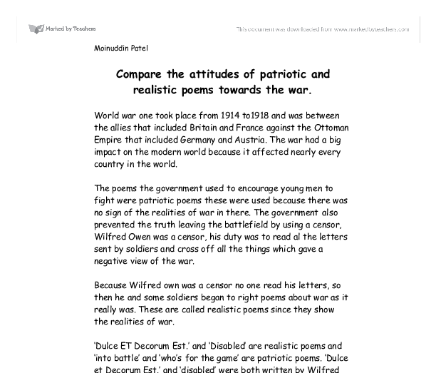Essay on patriotism in simple words