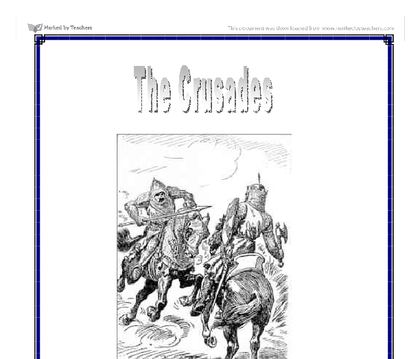 the first crusades essay