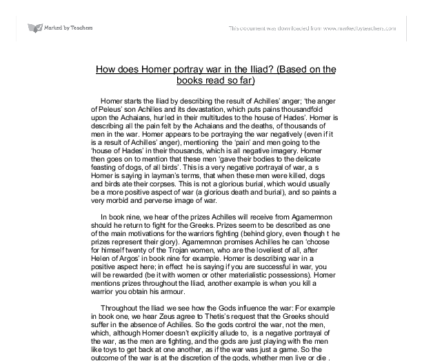 iliad essay thesis View essay - iliad book 1 essay(1) from hum 111 at bilkent university name_ mr rui guimaraes english 9 honors 3rd marking period typed essay assignment on characterization in book 1 of homers the.