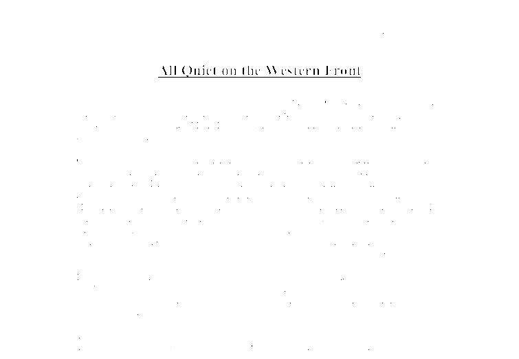 Essay on all quiet on the western front