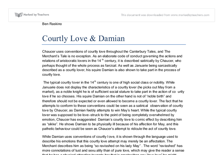 essays on courtly love