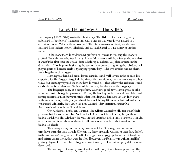 hemingway and symbolism essay Home → sparknotes → literature study guides → the old man and the sea → a+ student essay hemingway uses christian symbolism the old man and the sea.