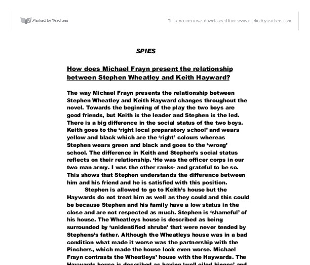 essay on spies Spies of world war ii 2 pages 598 words march 2015 saved essays save your essays here so you can locate them quickly topics in this paper.