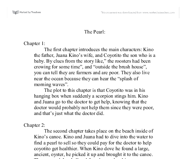 essay for the pearl john steinbeck Get an answer for 'themes in john steinbeck's the pearl  mentioned will get  you on your way to writing a great essay, but also consider the price of wisdom.