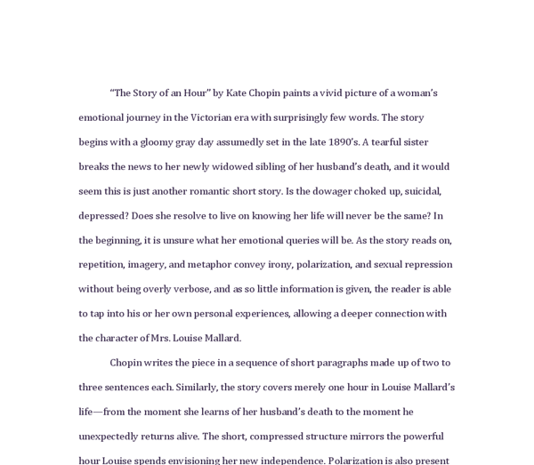Kate chopin the story of an hour essay gecce tackletarts co