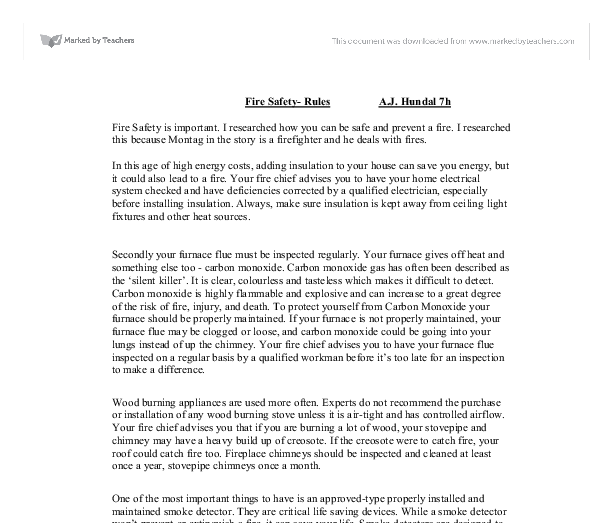 Home safety essay