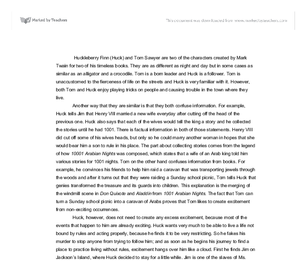 thesis statement huckleberry finn essay The thesis is the solid statement of the argument that your essay will make not a thesis: adventures of huckleberry finn is a novel thesis and conclusions.