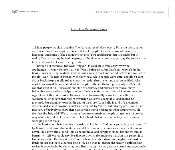 essays on satire in huck finn A summary of themes in mark twain's the adventures of huckleberry finn perfect for acing essays, tests, and quizzes, as well as for writing lesson plans.