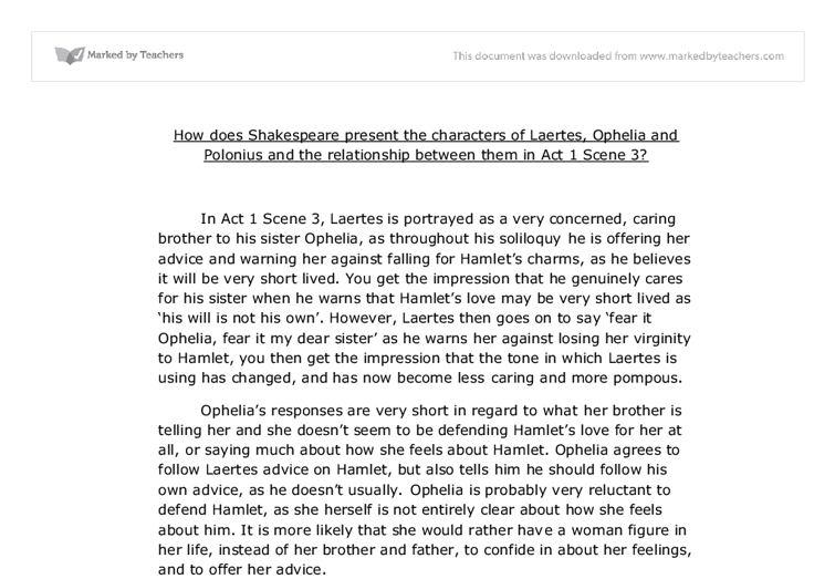Hamlet's relationship with his mother essay