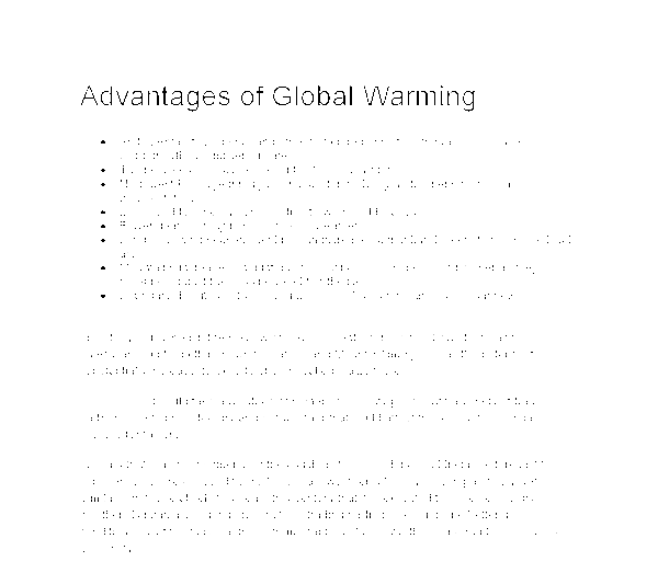 The global warming essay