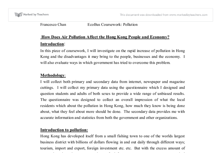how does air pollution affect the hong kong people and economy  document image preview